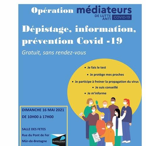 Opération COVID 19 à GUERLEDAN LE DIMANCHE 16 MAI 2021